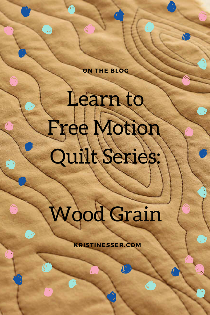 Learn to free motion quilt wood grain