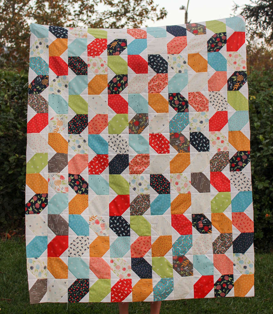 Piece and Quilt Hop Along {week 3}: A Finished Quilt