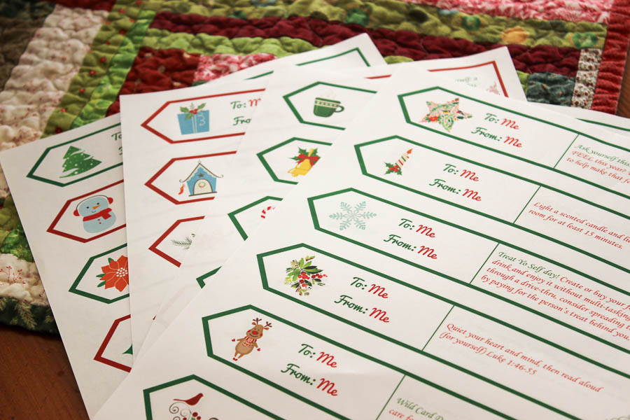 Advent Calendar for Moms--such a fun idea!