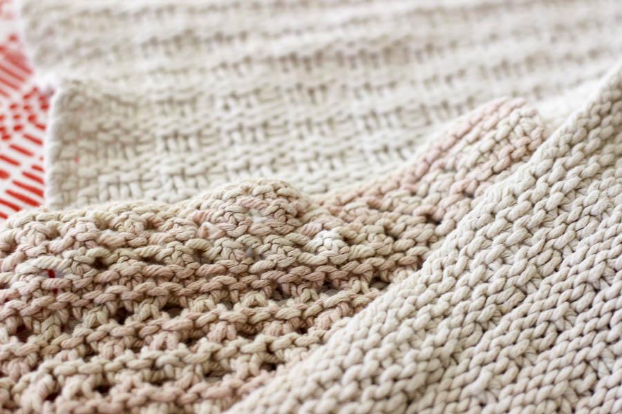 hand knit dishcloth round up