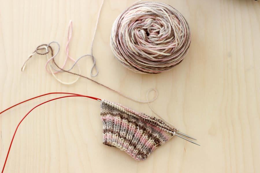 Vanilla sock knitting