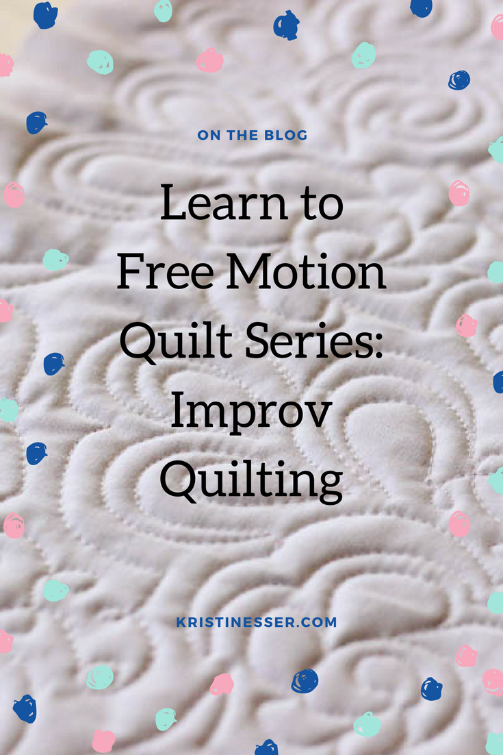 how to freemotion quilt improv style