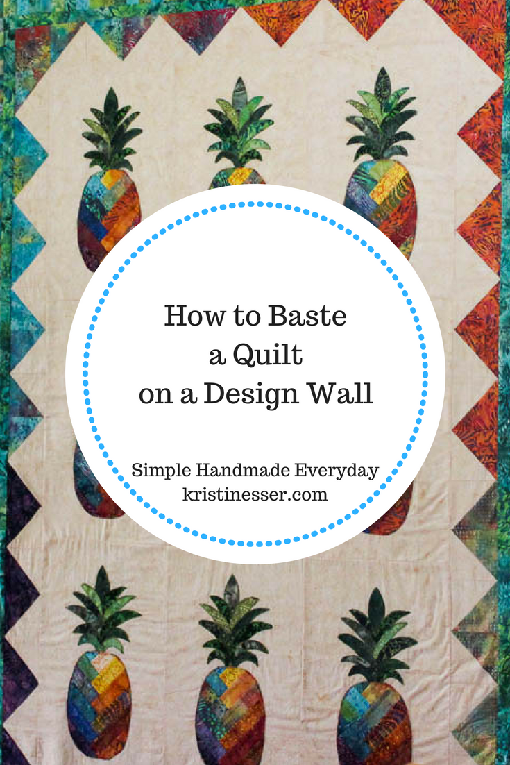 How to Spray Baste a Quilt on a Design Wall