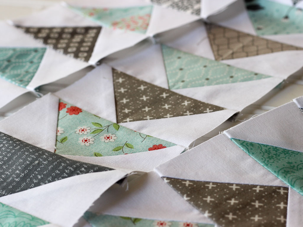 Flying Geese quilt block border