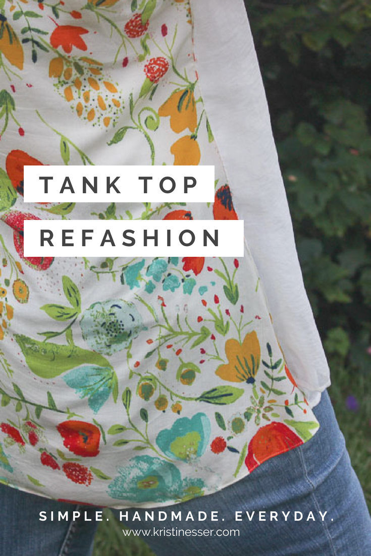Tank Top Refashion | Simple. Handmade. Everyday. kristineser.com