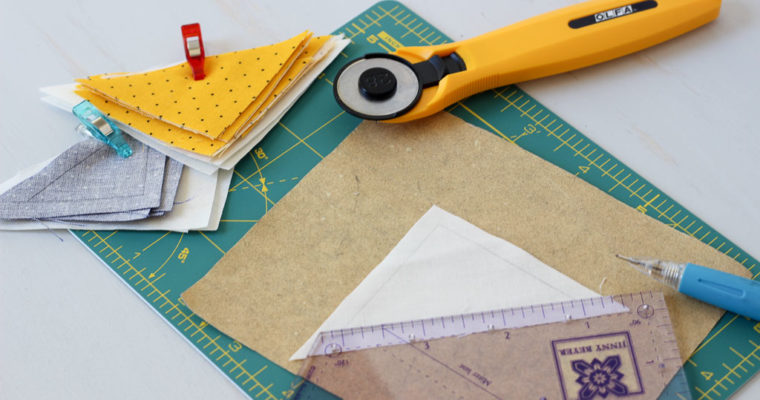 Hand Pieced QAL: Cutting and Marking Fabric