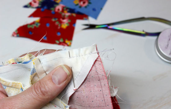 Hand Pieced QAL: Quilter's Knots and the Running Stitch