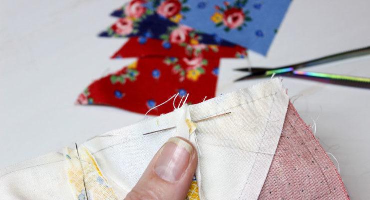 Hand Pieced QAL: Sewing Through Seam Allowances