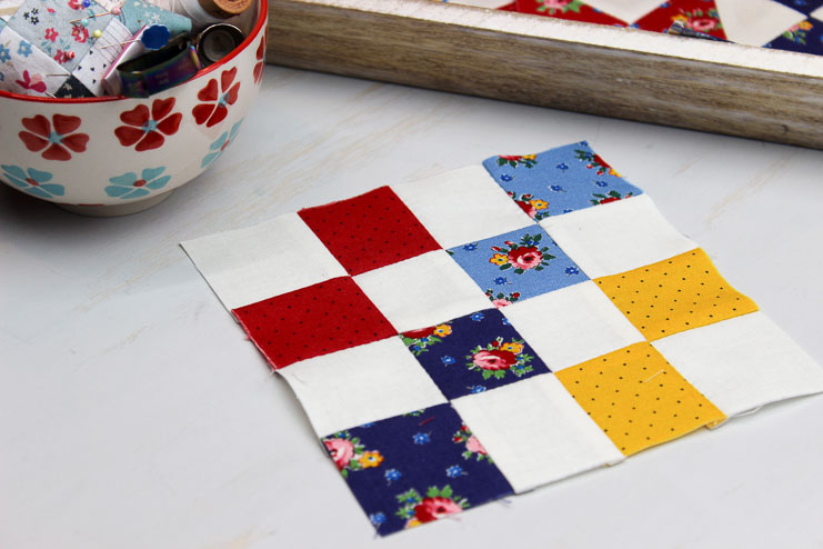 Hand Pieced QAL: Four Patch Block (Block 1)