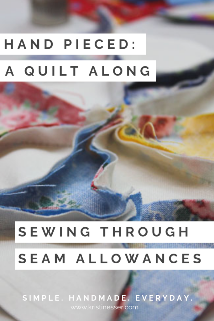 How to Sew Through Seam Allowances in Hand Piecing