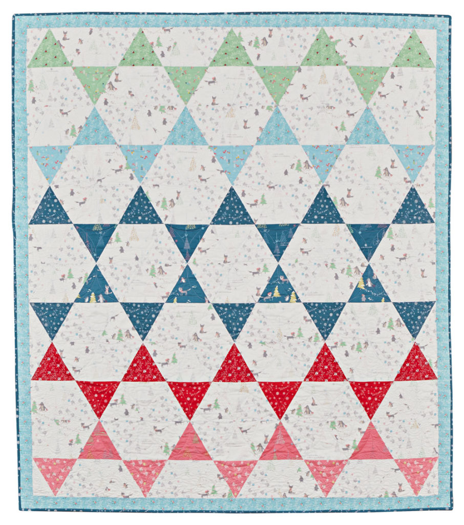 Snow Day quilt by Kristin Esser