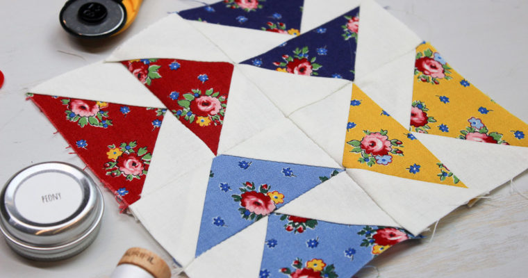 Hand Pieced QAL: Flying Geese Unit (Block 3)
