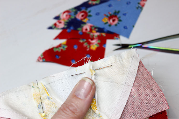 Hand piecing with 80 wt thread