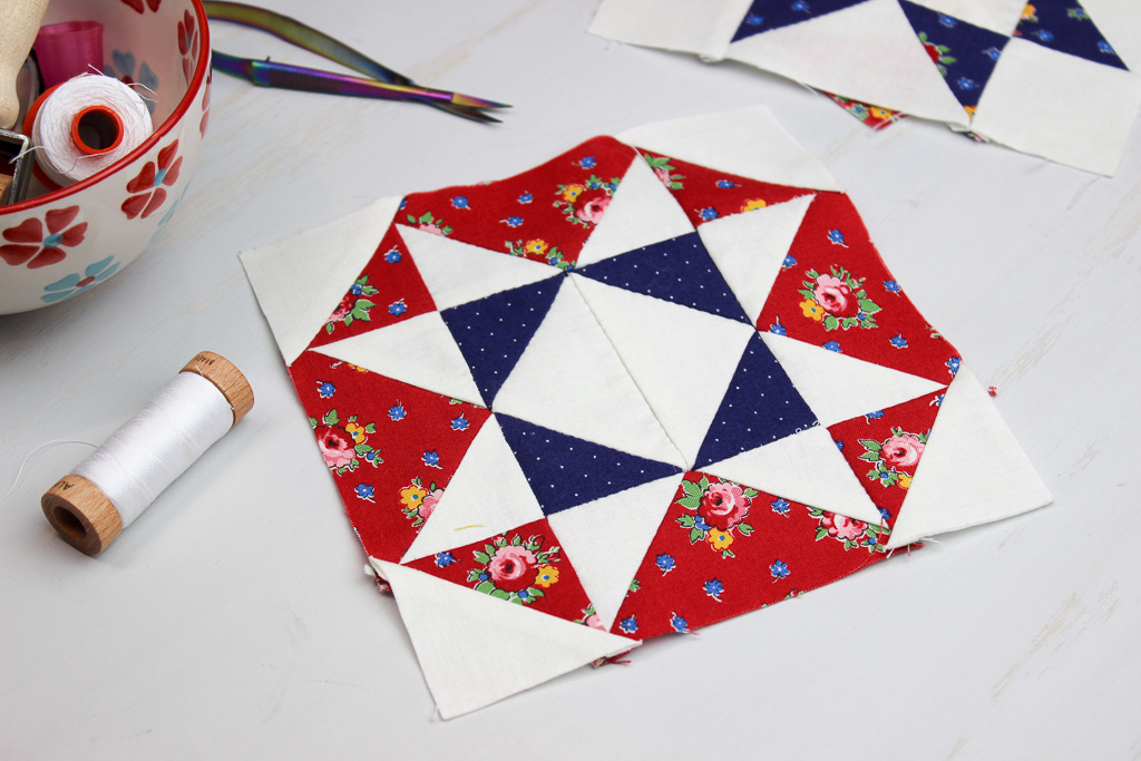 Hand Pieced QAL: Eula Block (Block 7)
