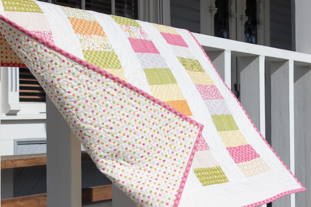 Easy baby quilt/Coin quilt for baby