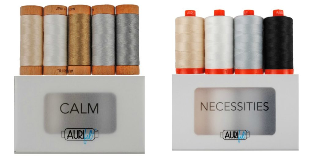 Calm and Necessities thread collections from Aurifil