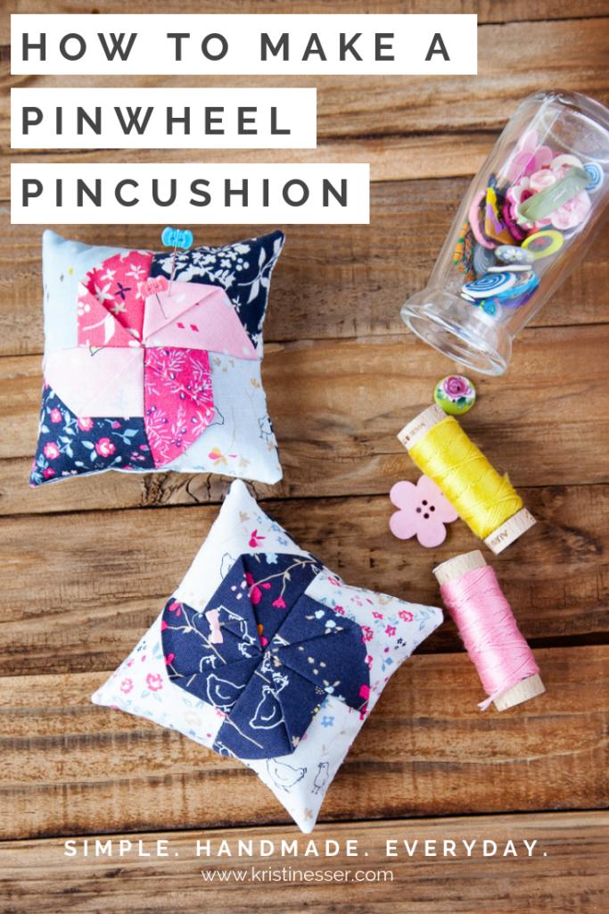 How to make a pinwheel pincushion
