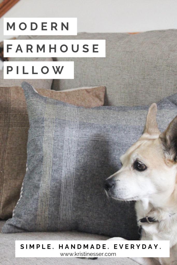 Modern Farmhouse Pillow DIY