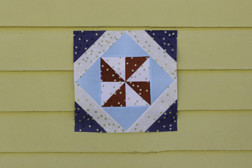 In the Shade quilt block