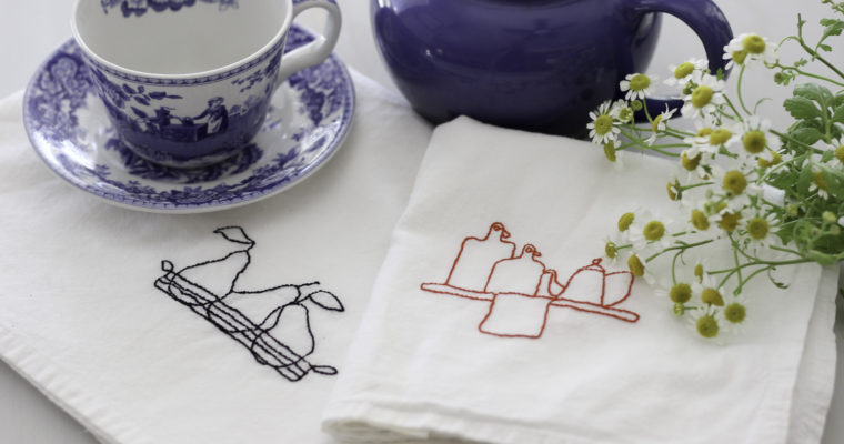 Handmade Home: Embroidered Tea Towels