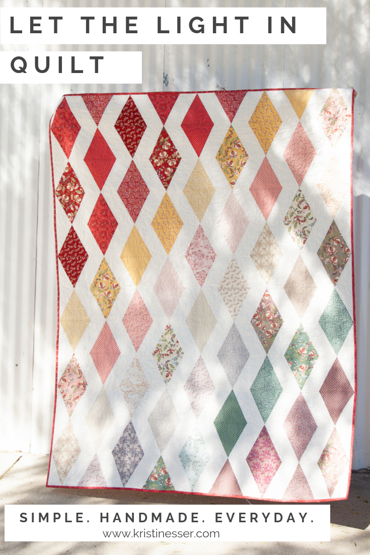 """""""Let the Light In"""" Quilt with Madame Fleur Fabric"""