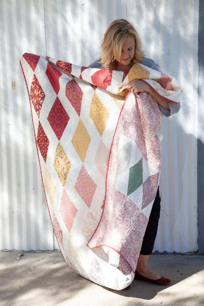 Madame Fleur Quilt by Kristin Esser of Simple Handmade Everyday