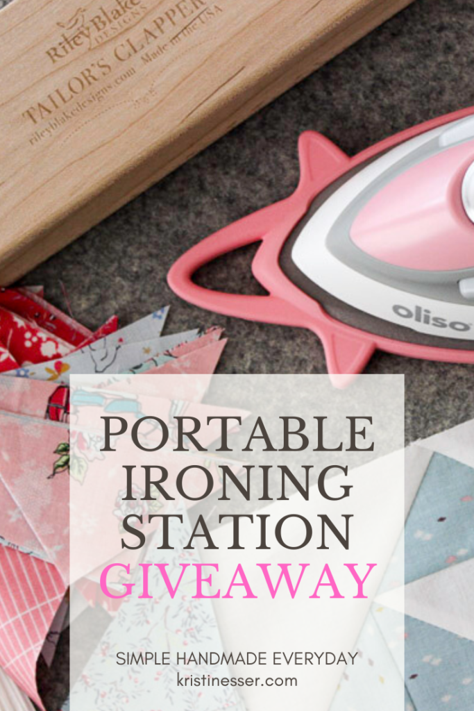 Portable ironing station giveaway at kristinesser.com