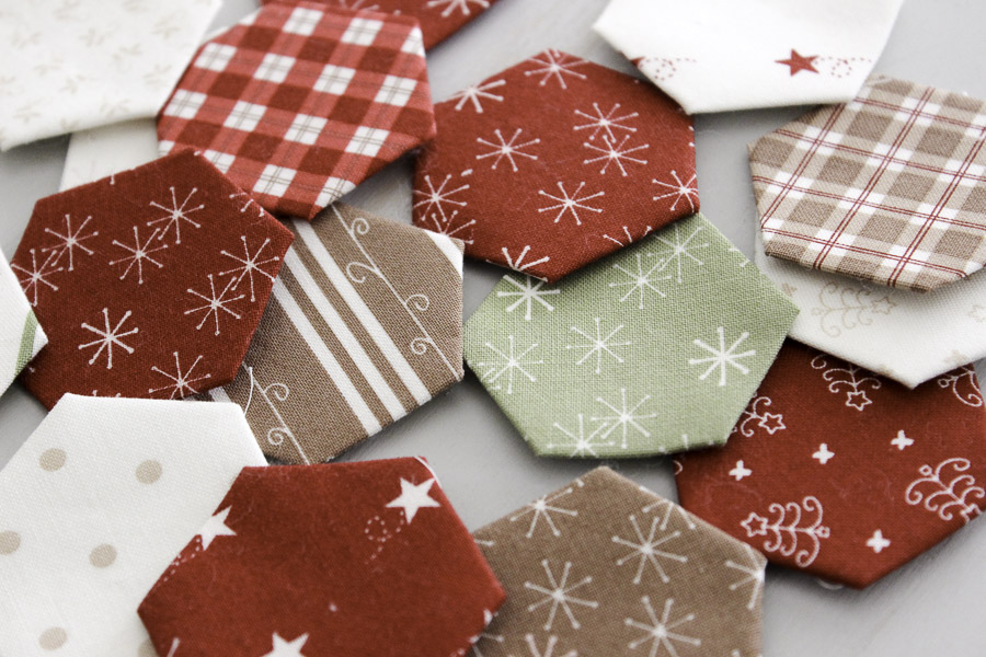 Modern Hexies Christmas Pillow