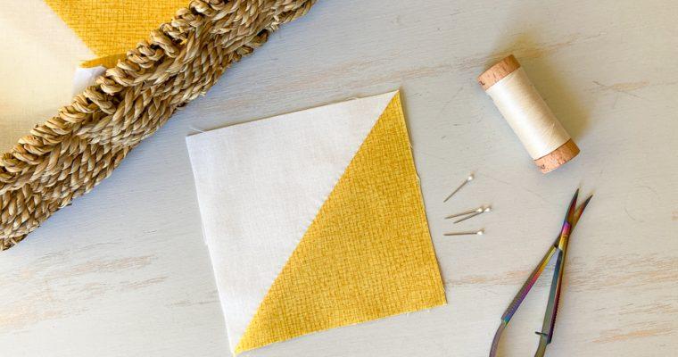 Harmony QAL: Half Square Triangle